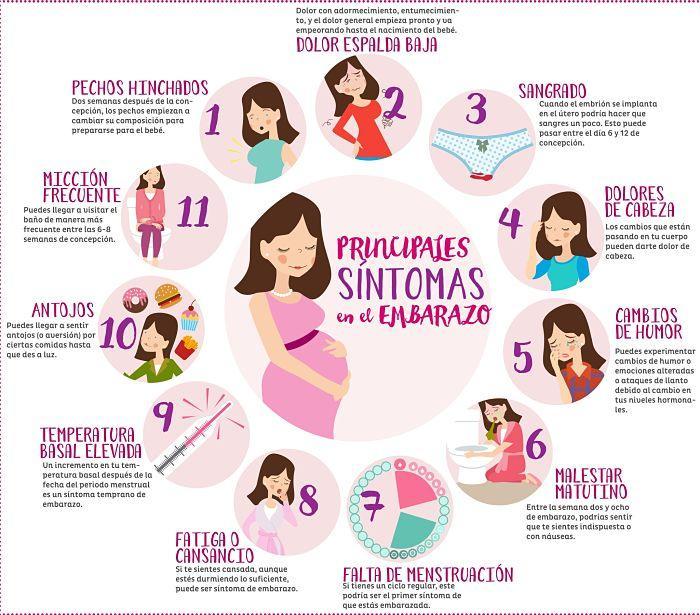 Primeros 3 dias de embarazo sintomas