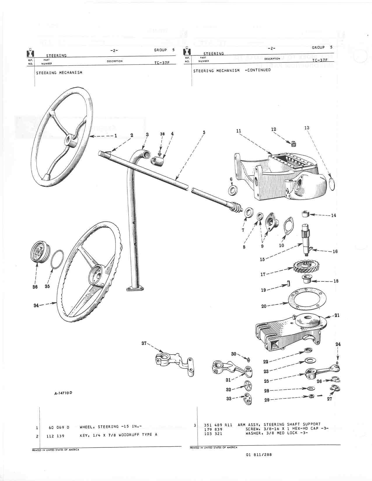 Farmall Cub Hydraulic Part Diagram