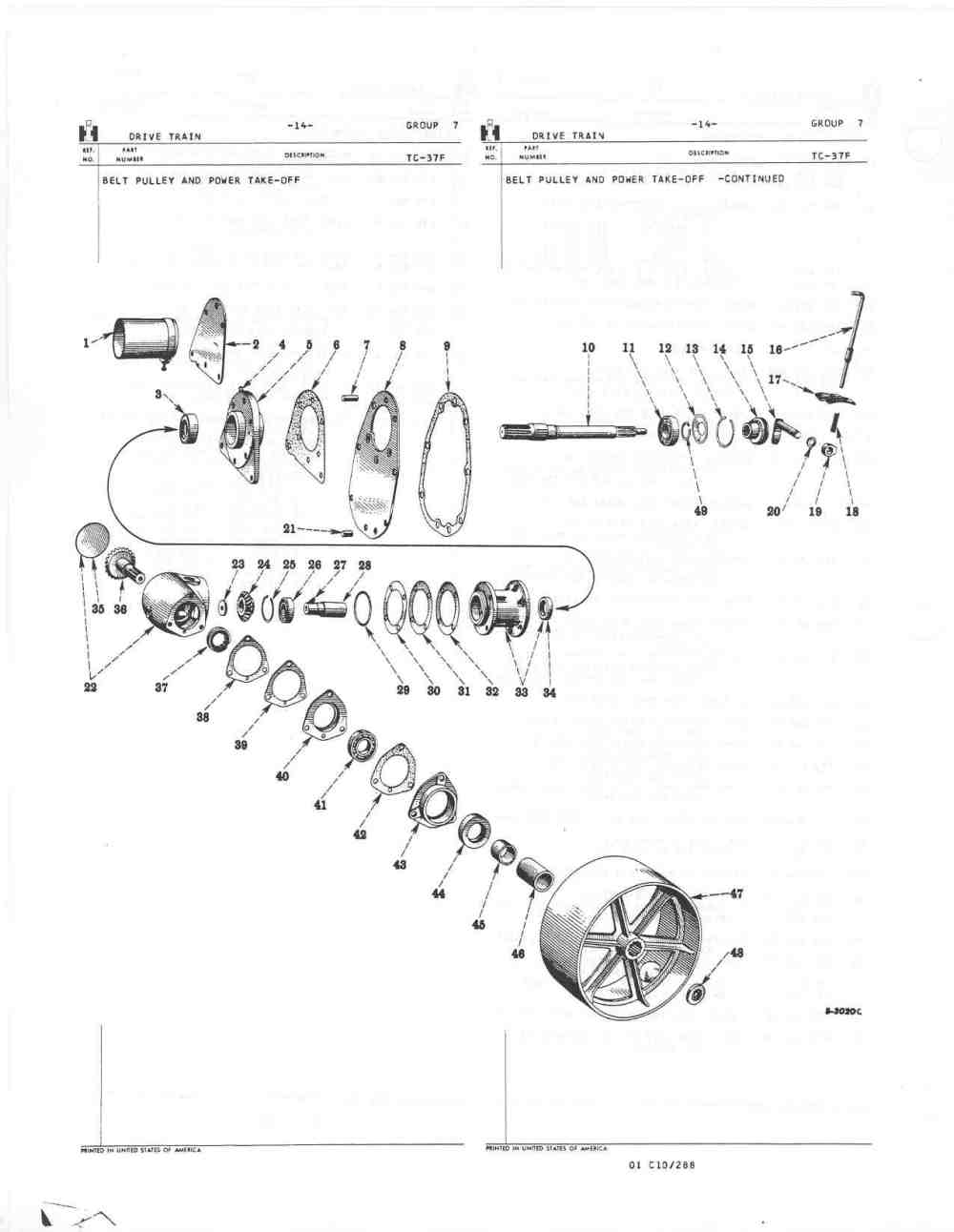 medium resolution of farmall cub pto diagram