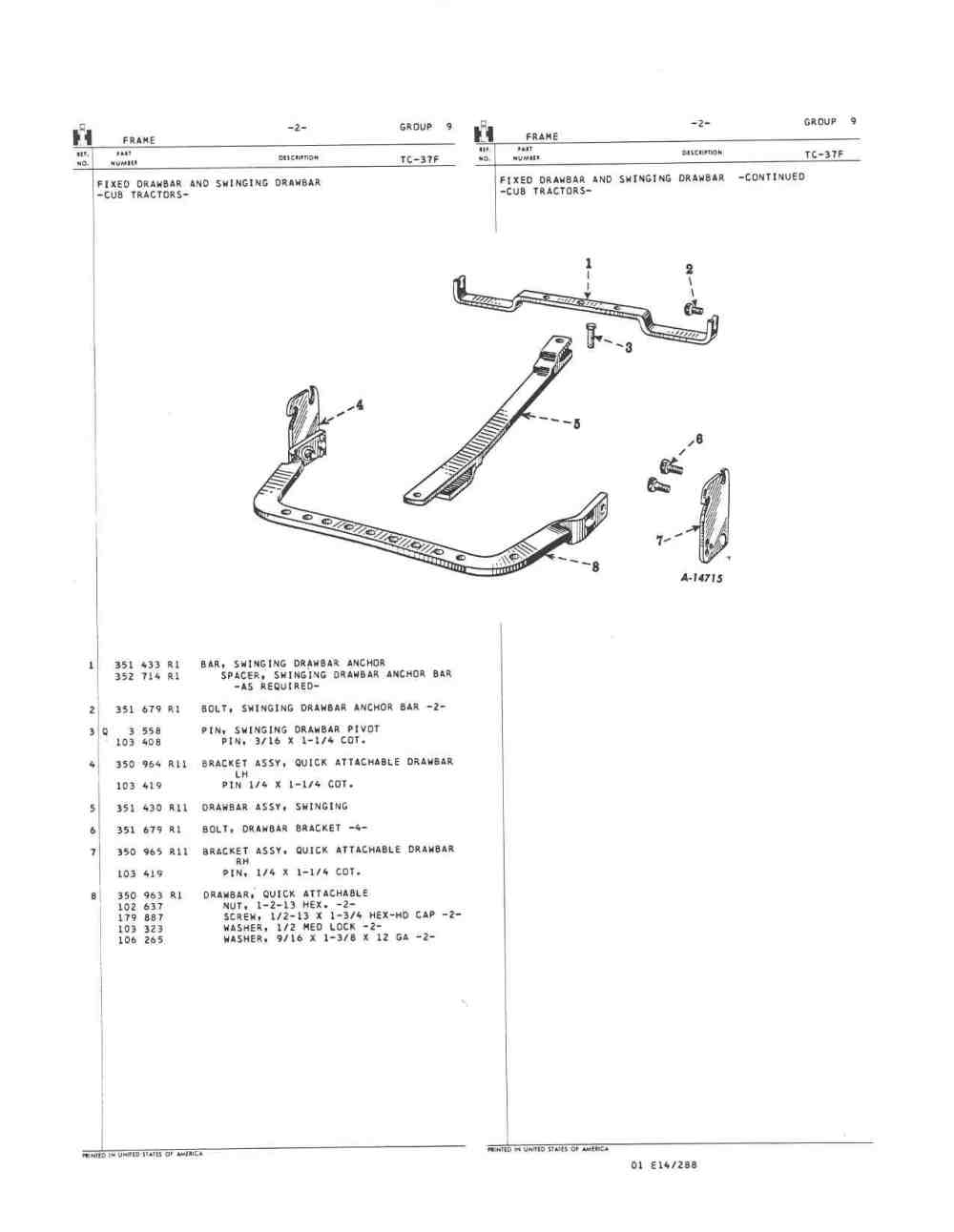 medium resolution of 1959 mccormic farmall cub page 3 farmall cub farmall cub drawbar diagram