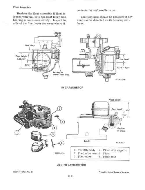 small resolution of help with carb float level farmall cubwww tmtractor com new fl 373fp htm