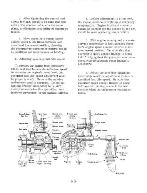Farmall M Governor Adjustment Diagram - 1953 ford jubilee