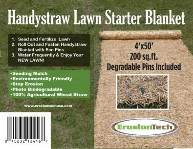 Handystraw lawn starter blanket