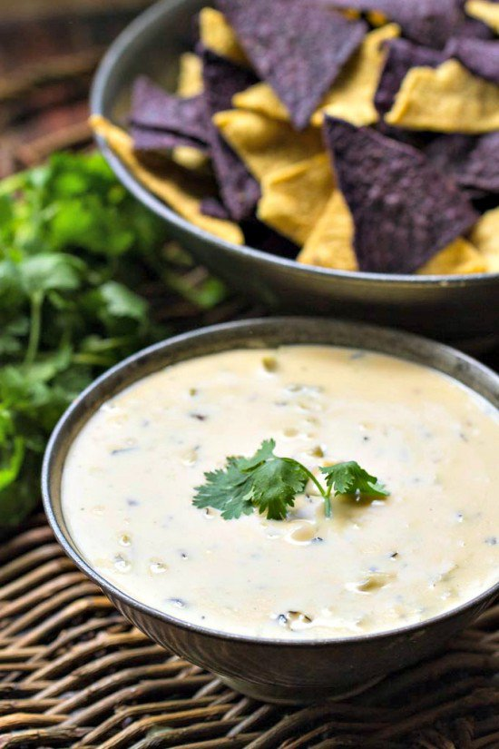 Roasted Hatch Chile Queso Dip