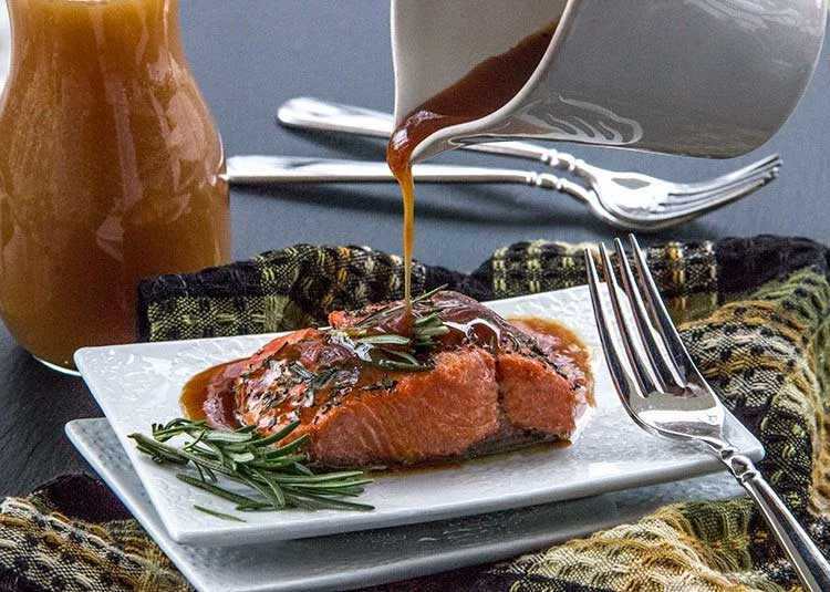 Roasted Salmon with Apple Cider Glaze