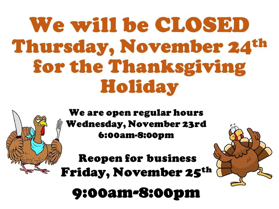 Happy Thanksgiving from Farmer's Fresh Market