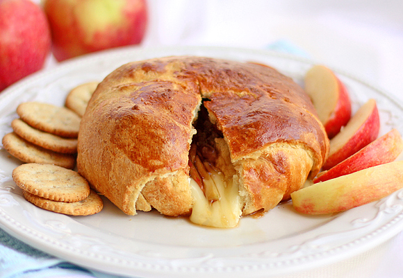 Baked Apple Brie Crescent Wrapped
