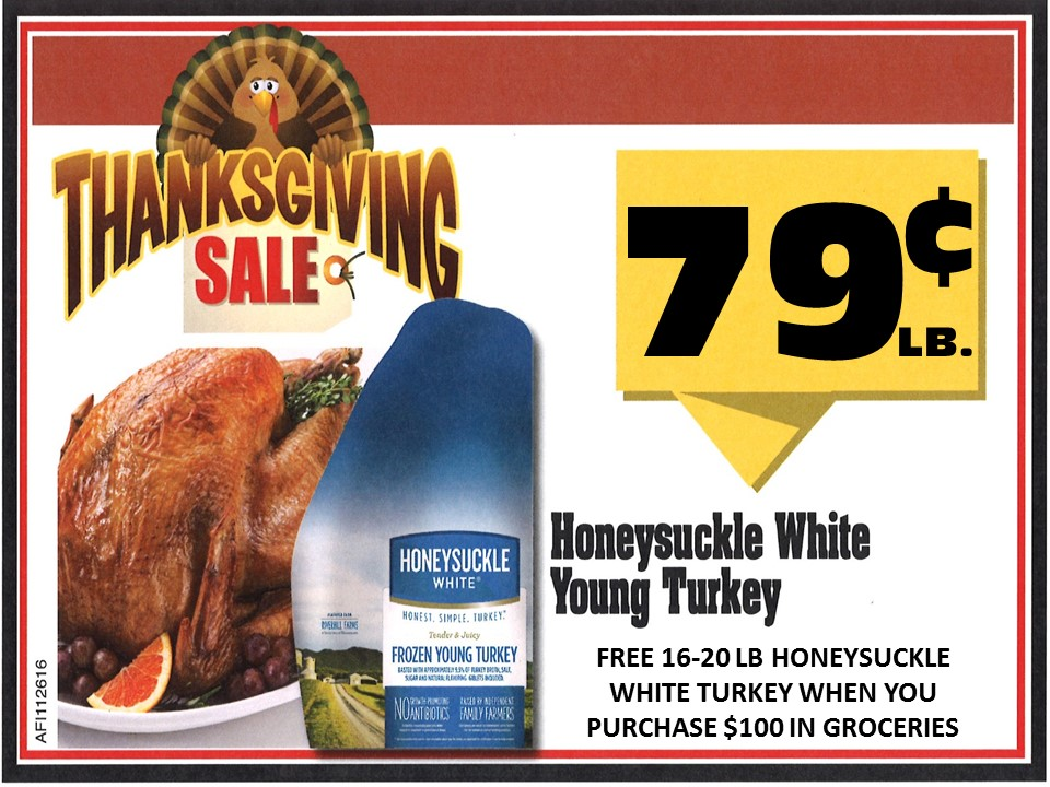 Free Turkey…purchase $100 in groceries