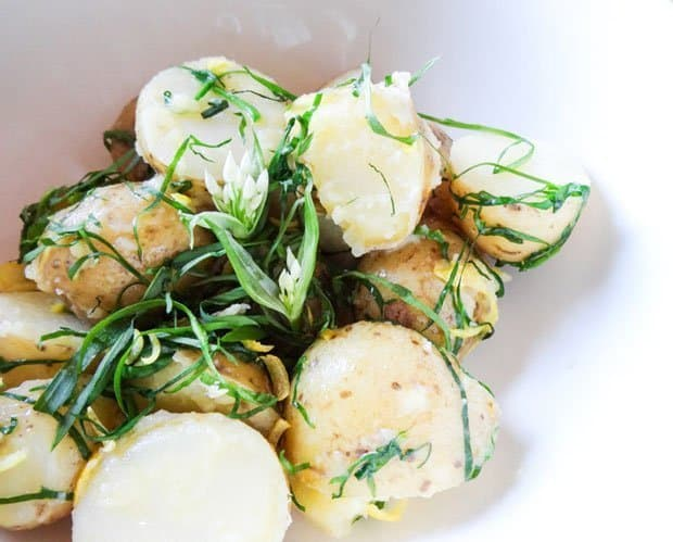 Take your new potatoes to the next level with a spring wild garlic and lemon dressing