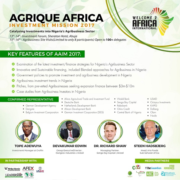 Panel Session to Address key Considerations in Structuring Investments directly to a Nigerian based Food and Agribusiness Enterprise.