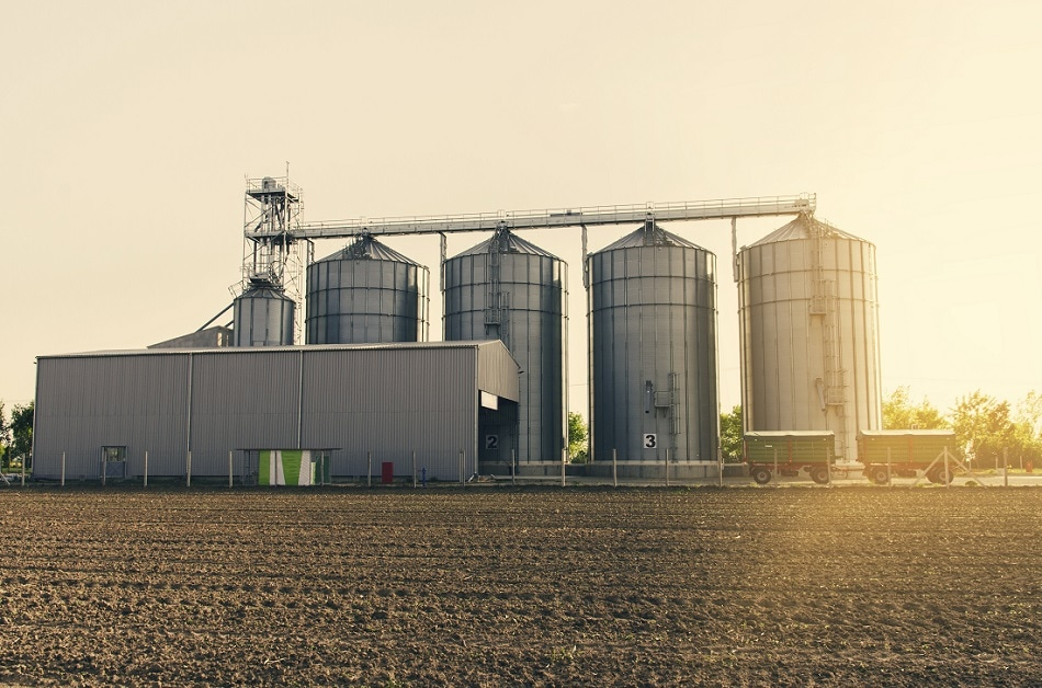 Monitoring CO2 in stored grain and food