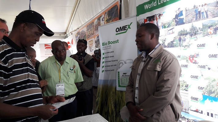 Zambian President visits Omex at Agritech