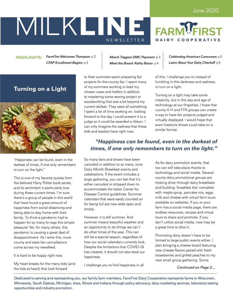 June 2020 MilkLine Newsletter