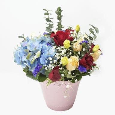Brittany hydrangea flower arrangement