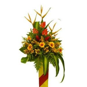 Respectable Achiever Congratulatory Flower Stand
