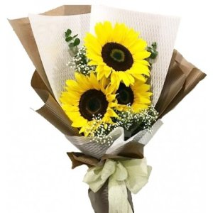 Misty Sunflower Bouquet by FARM Florist Singapore
