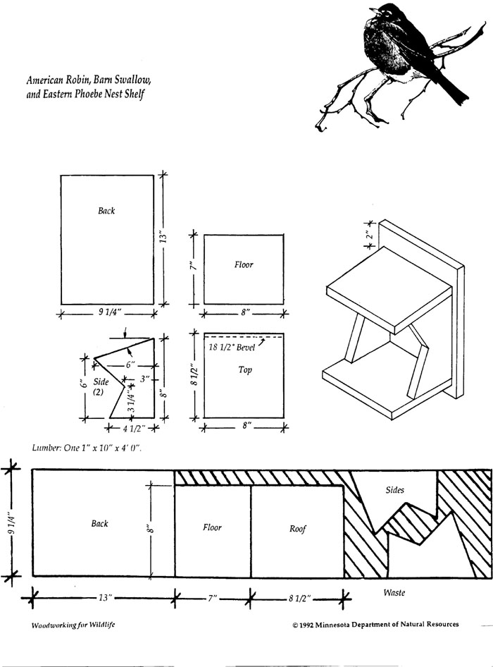 Free Birdhouse Plans Robins PDF Woodworking