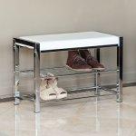 Danya-B-White-Leatherette-Storage-Entryway-Bench-with-Chrome-Frame-HA16832-0
