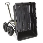 Gorilla-Carts-Extra-Heavy-Duty-Poly-Dump-Cart-with-2-in-1-Convertible-Handle-with-a-Capacity-of-1500-lb-Black-0-1