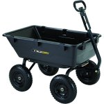 Gorilla-Carts-GOR6PS-Heavy-Duty-Poly-Yard-Dump-Cart-with-2-In-1-Convertible-Handle-1200-Pound-Capacity-Black-0