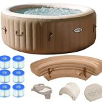 Intex-Pure-Spa-4-Person-Inflatable-Portable-Hot-Tub-Ultimate-Bundle-Package-0