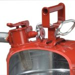 Justrite-7250130-Galvanized-Steel-AccuFlow-Type-II-Red-Safety-Can-with-1-Flexible-Spout-Large-ID-zone-Meets-OSHA-NFPA-For-Handling-Hazardous-liquids-5-Gallon-19L-Size-0-1