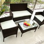 Merax-4-PC-Outdoor-Garden-Rattan-Patio-Furniture-Set-Cushioned-Seat-Wicker-Sofa-0-1