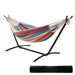 Ohuhu-Double-Hammock-With-Space-Saving-Steel-Stand-Includes-Portable-Carrying-Case-0