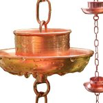 Rain-Chain-Pure-Copper-by-Golden-Canary-6-Foot-Long-Ready-to-Install-in-Gutter-Decorative-Downspout-Replacement-for-Collecting-Water-in-a-Barrel-0