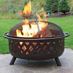 Sunnydaze-36-Inch-Large-Bronze-Crossweave-Fire-Pit-with-Spark-Screen-0-0