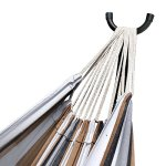 Zeny-Double-Hammock-With-Space-Saving-Steel-Stand-Includes-Portable-Carrying-Case-Desert-Stripe-0-0