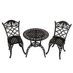 3-Piece-Jet-Black-Ornate-Grape-Vineyard-Aluminum-Outdoor-Patio-Bistro-Chat-Set-0
