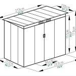 4X7-Outdoor-Garden-Storage-Shed-Tool-House-Sliding-Door-Metal-Dark-Gray-New-0-0