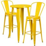 BOWERY-HILL-3-Piece-24-Round-Metal-Patio-Pub-Set-in-Yellow-0