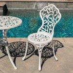 Belleze-3pc-Bistro-Set-Outdoor-Patio-Furniture-Leaf-Design-Antique-0-2