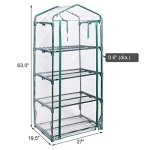 COSTWAY-4-Tier-Shelves-Mini-63-Portable-Greenhouse-Outdoor-Green-Plants-House-Only-by-eight24hours-0-0