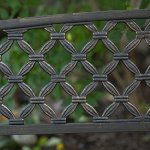 Cosmic-Furniture-Traditional-Curved-Back-Metal-Garden-Bench-Rugged-and-Rustic-Powder-Coated-Tubular-Steel-Blackened-Metal-with-a-Weathered-Bronze-Finish-Slatted-Seat-Woven-Style-Back-Classic-0-0