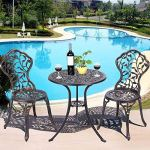 Giantex-3-Piece-Bistro-Set-Cast-Tulip-Design-Antique-Outdoor-Patio-Furniture-Weather-Resistant-Garden-Round-Table-and-Chairs-wUmbrella-Hole-0-0