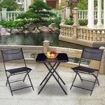 Good-concept-3-pc-Outdoor-Patio-Folding-Square-Table-Chair-Suit-Set-Bistro-Backyard-Yard-Garden-0