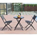 MyEasyShopping-New-Table-Outdoor-Chairs-and-Table-Furniture-Black-Garden-Patio-Picnic-Set-0-2