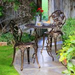 Outside-Patio-Bistro-Set-Porch-Conversation-Set-Table-Chairs-Traditional-Floral-Detail-Pattern-Comfortable-Seating-Weather-Resistant-Backyard-Porch-Veranda-Balcony-Deck-Furniture-eBook-by-BADAshop-0-0