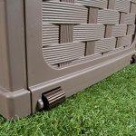 Plastic-Garden-Storage-Box-with-Sit-on-Lid-Cushion-Box-Outdoor-Storage-Wicker-Deck-Box-Rattan-Design-Color-Brown-0-0