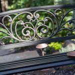 Traditional-Scrolling-Hearts-Curved-Back-Metal-Garden-Bench-Blackened-and-Polished-in-Weathered-Bronze-Slatted-Comfortable-Seat-Powder-Coated-Tubular-Steel-Classic-for-All-Weather-0-0