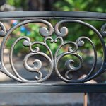 Traditional-Scrolling-Hearts-Curved-Back-Metal-Garden-Bench-Blackened-and-Polished-in-Weathered-Bronze-Slatted-Comfortable-Seat-Powder-Coated-Tubular-Steel-Classic-for-All-Weather-0-1