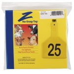 Z-Tags-1-Piece-Pre-Numbered-Laser-Print-Tags-for-Cows-Numbers-from-26-to-50-Yellow-0