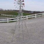 8-Ft-Premium-Aluminum-Decorative-Garden-Windmill-Green-Trim-0