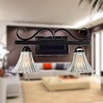 80W-Artistc-Wall-Light-with-2-Lights-and-Glass-Floral-Shade-Down-BBB-0-1