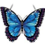 Amia-Hand-Painted-Glass-Butterfly-Suncatcher-Blue-Morpho-0