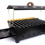 Barbeque-Charcoal-Grill-12-Hut-Shaped-Barbeque-Black-Iron-Barbeque-Portable-BBQ-Grill-Travel-Essentials-0-1