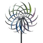 Bits-and-Pieces-The-Original-Rainbow-Wind-Spinner-Decorative-Lawn-Ornament-Wind-Mill-Tri-Colored-Kinetic-Garden-Spinner-0